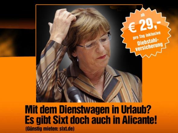 Sixt Werbung Ursula Schmidt