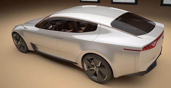 Kia Sportwagen Concept Car: Anleihen an Lamborghini Estoque
