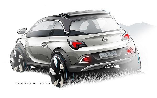 Opel Adam Crossover Studie Adam Rocks Hinten