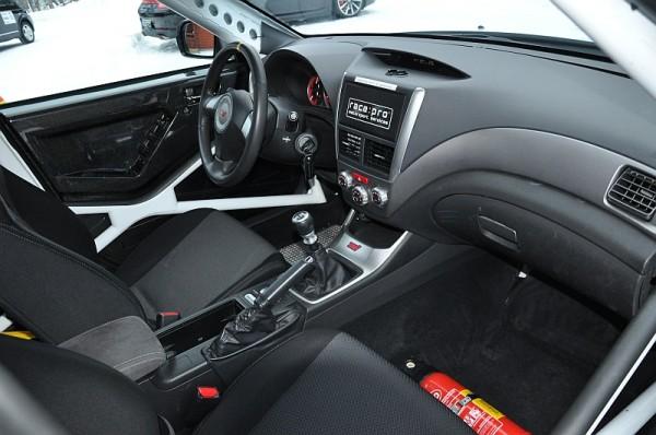 Michelin Winter Experience 2014 Subaru WRX STI Gruppe N Cockpit