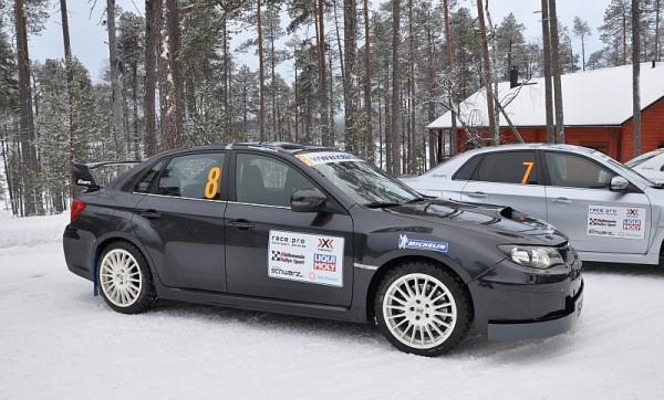 Michelin Winter Experience 2014 Subaru WRX STI Schwarz