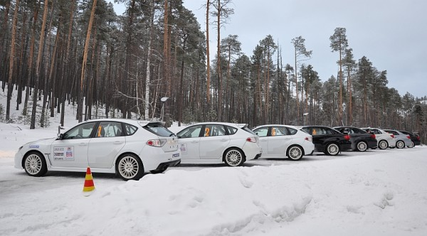 Michelin Winter Experience 2014 Subarus