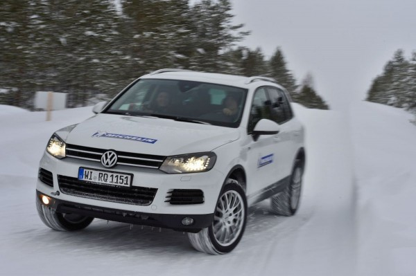 Michelin Winter Experience 2015 Offroad im VW Touareg