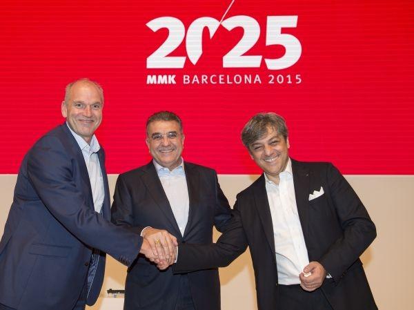 v.l.r. Jürgen Stackman - ehemaliger Vorstandsvorsitzende der Seat S.A. und künftig bei VW Marketingvorstand, Dr. Francisco Javier García Sanz - Vorstandsmitglied der Seat S.A., Luca de Meo - neuer Vorstandsvorsitzende der Seat S.A.