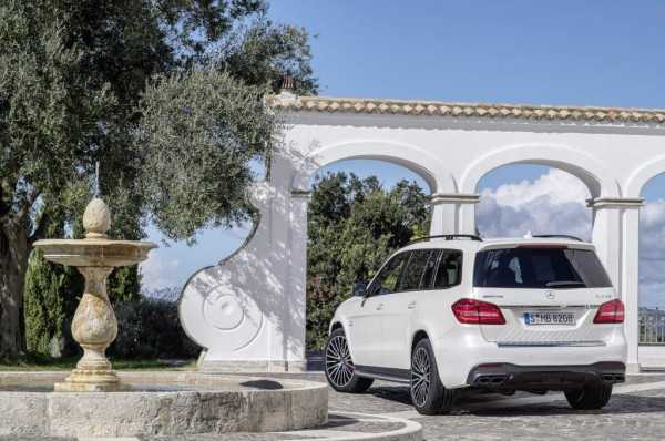 Mercedes-AMG GLS 63 4MATIC, Exterieur: designo diamantweiß bright exterior: designo diamond white bright