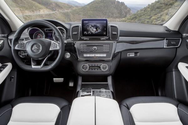 Mercedes-Benz GLE 250 d, Interieur: Leder Nappa Porzallan/Schwarz, AMG Line Interieur, Zierelemente Holz Pappel schwarz glänzend