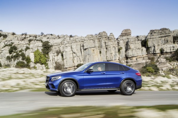 Mercedes-Benz GLC Coupé, brilliantblau.