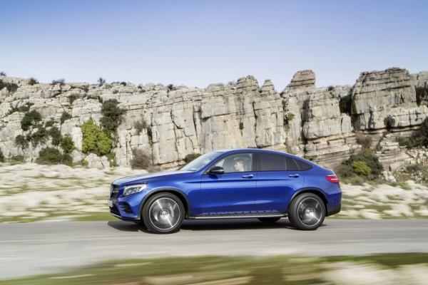 Mercedes-Benz GLC Coupé, brilliantblau.