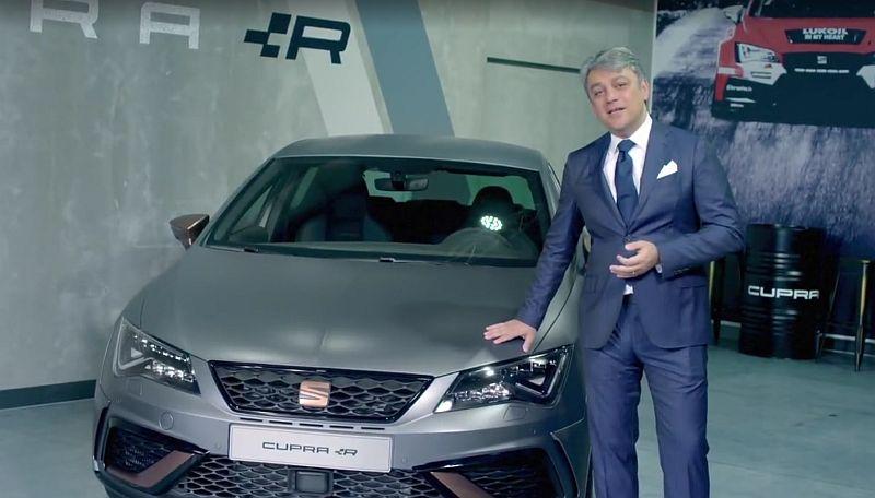 Seat-Boss Luca de Meo zeigt neuen Leon Cupra R – und kündigt weitere Neuheiten zur IAA an