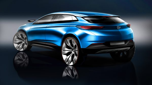 The vision: the goals for the new Opel Grandland X were to create a rugged yet dynamic design, with the optimum interaction of harmonious, sculptural surfaces and very sharp crease lines.