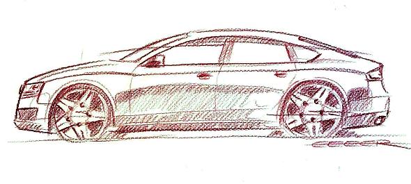 Audi A5 Sportback Scribble