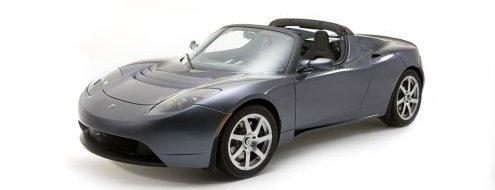 Tesla Roadster Silber